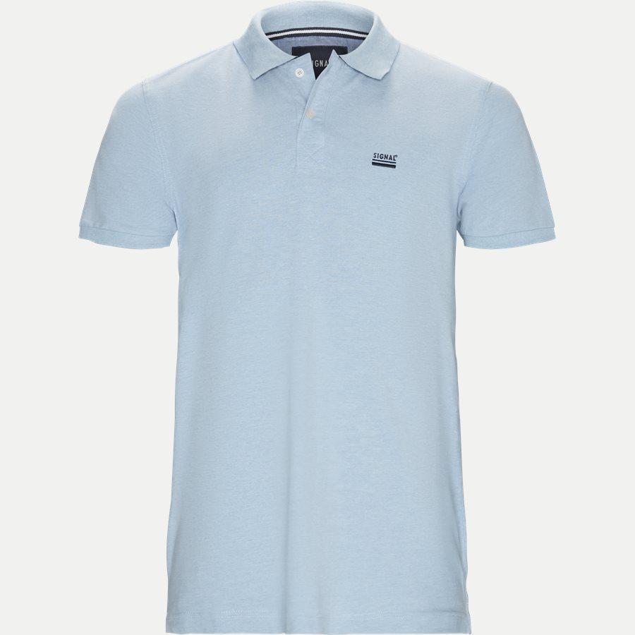 NORS S19 - Nors KM Polo t-shirt - T-shirts - Regular - L.BLÅ MELANGE - 1